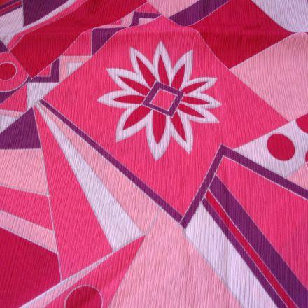 Metráž: Šifon se vzorem - š.150 x 140 cm
