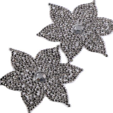 Galanterie: Nažehlovací květ s kamínky