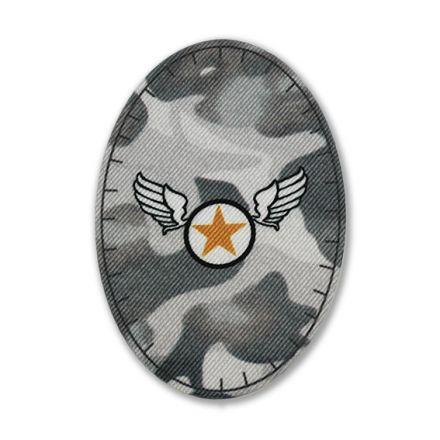 Galanterie: Aplikace army šedá