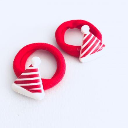 2ks vánočních gumiček čepice