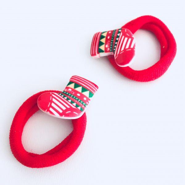 2ks vánočních gumiček punčocha