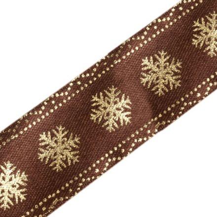 Galanterie: Vánoční stuha vločky