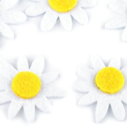 Galanterie: Filcový květ (5ks) - 30mm