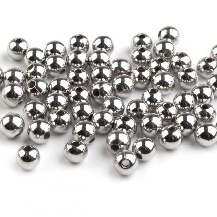 Galanterie: Plastové korálky 6mm - (100ks)