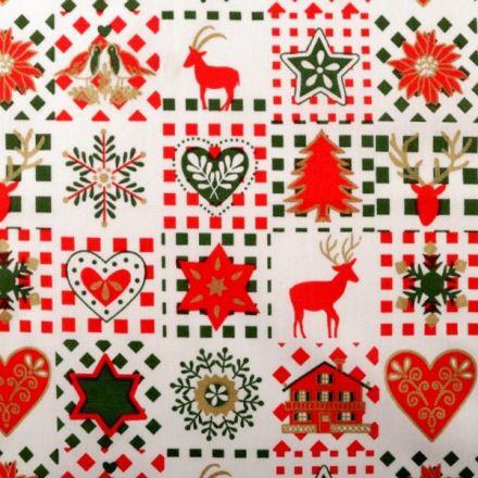 Metráž: Vánoční bavlněná látka
