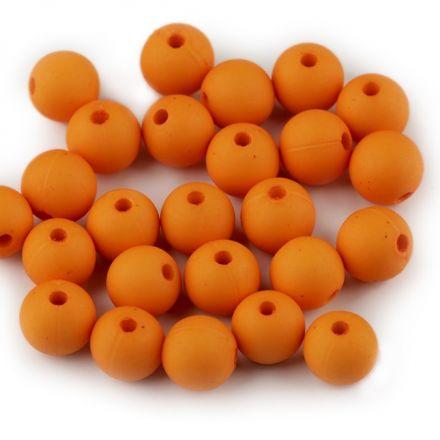 Galanterie: Plastové korálky 8mm (30ks) - oranžová
