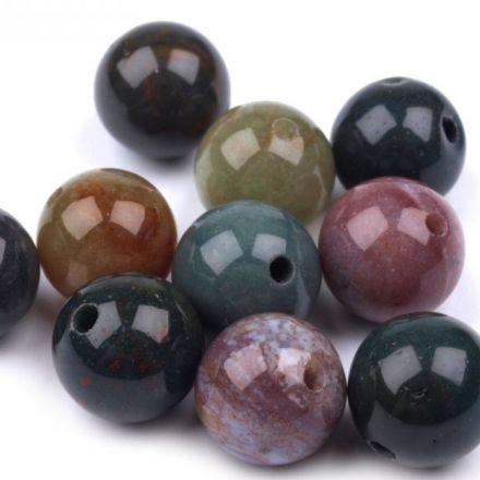 Galanterie: Minerálové korálky 10mm (5ks) - achát