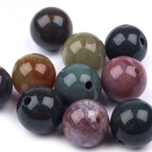 Minerálové korálky 10mm (5ks) - achát
