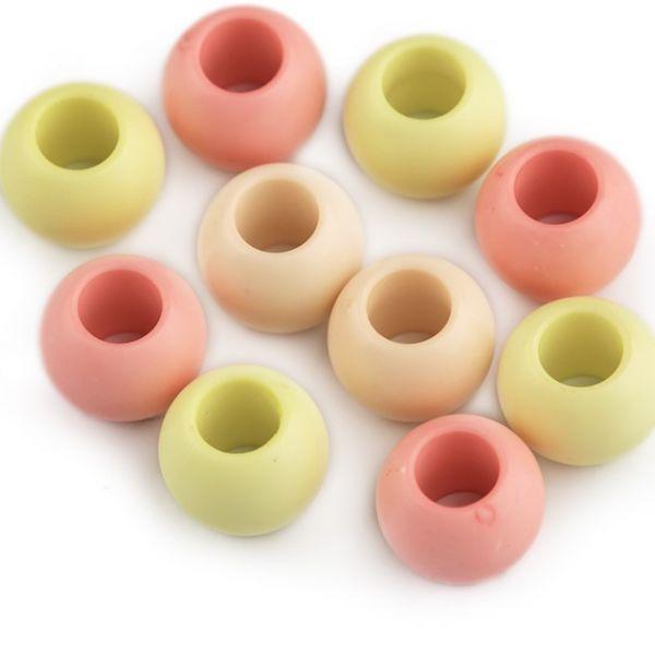 Plastové korálky 11x14mm (10ks) - mix