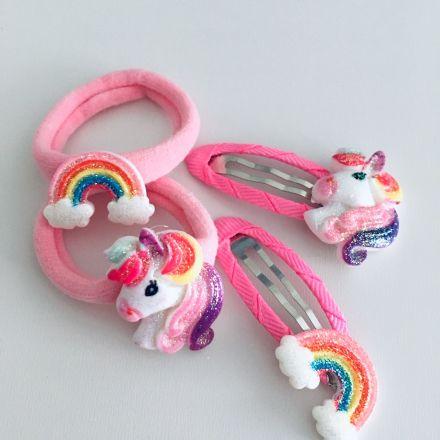 Unicorn sada gumiček a sponek 3