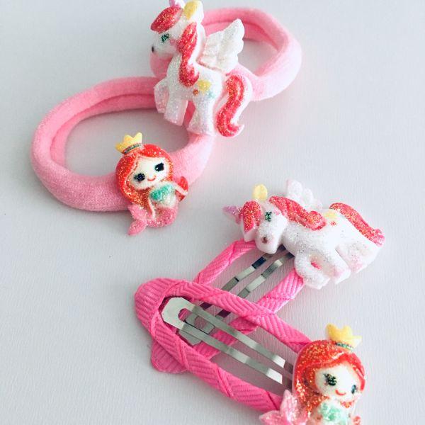 Unicorn sada gumiček a sponek 2
