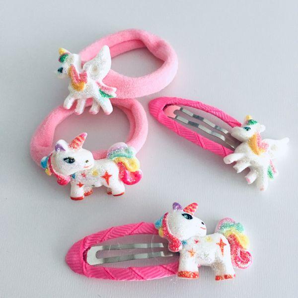 Unicorn sada gumiček a sponek 1