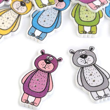 Galanterie: Dekorační knoflík medvídek (5ks)