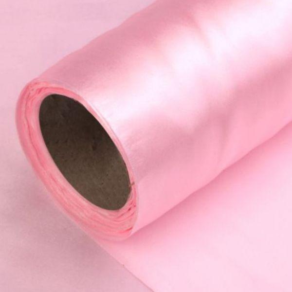 Satén jednostranný/stuha š.14cm - růžová
