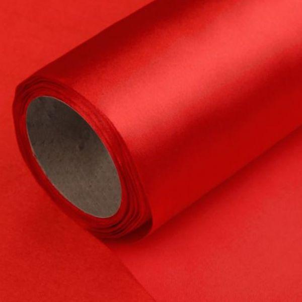 Satén jednostranný/stuha š.14cm - červená