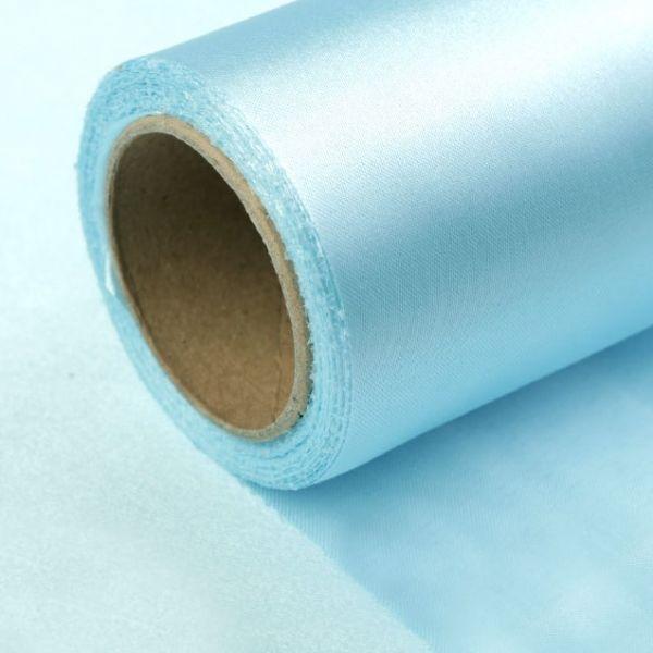 Satén jednostranný/stuha š.14cm - modrá