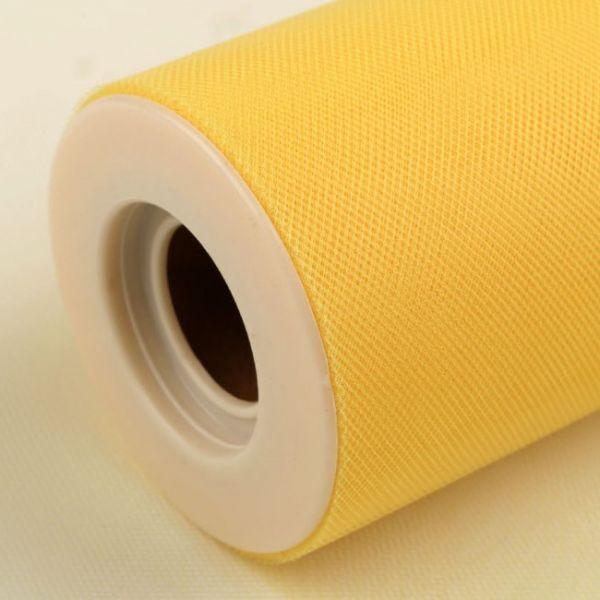 Tyl dekorační š.22,5cm - žlutá