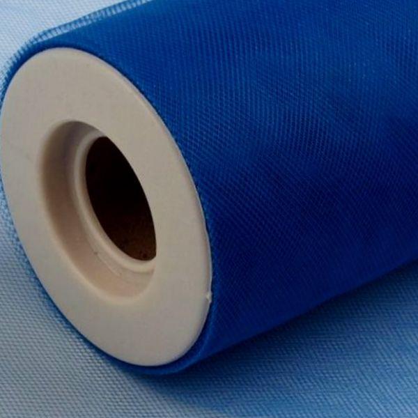 Tyl dekorační š.22,5cm - modrá