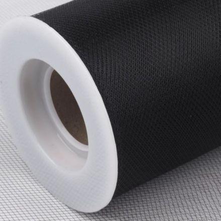 Galanterie: Tyl dekorační š.22,5cm - černá