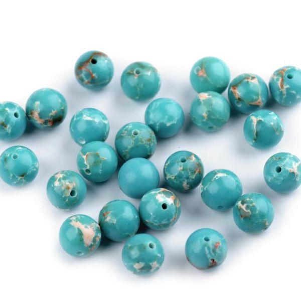 Minerálové korálky Modrý Jaspis 8mm - (5ks)