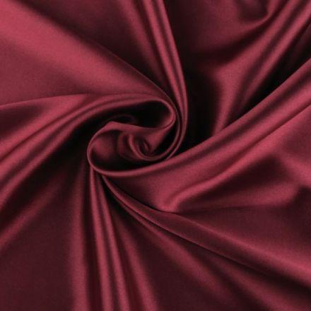 Metráž: Satén elastický bordó