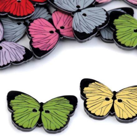Galanterie: Knoflík motýl