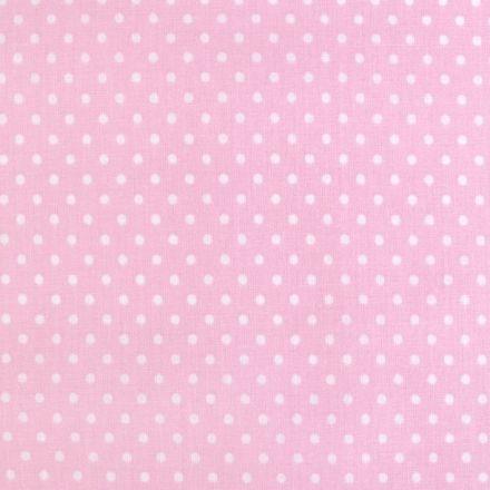 Metráž: Bavlna puntík - růžová