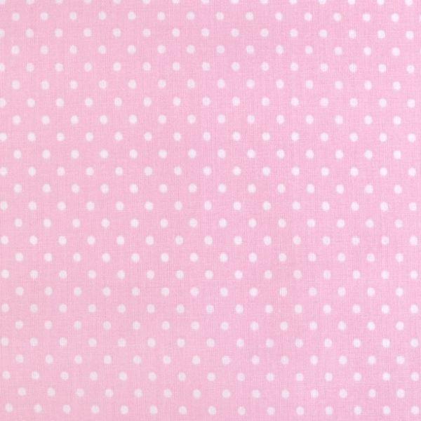 Bavlna puntík - růžová
