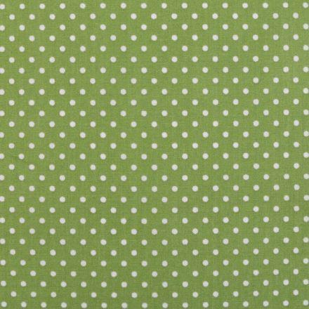 Metráž: Bavlna puntík - zelená