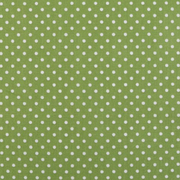 Bavlna puntík - zelená