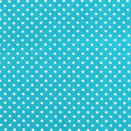 Metráž: Bavlna puntík - tyrkysová