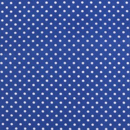 Metráž: Bavlna puntík - modrá