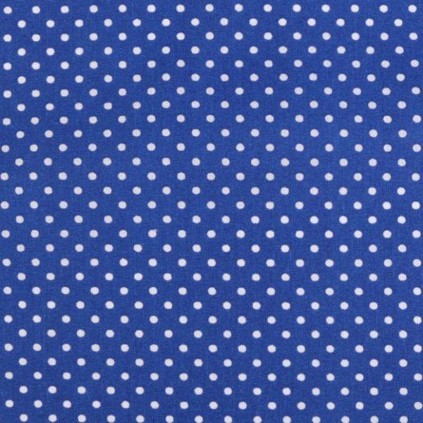 Bavlna puntík - modrá