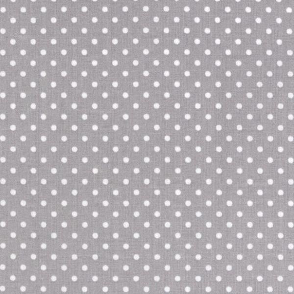 Bavlna puntík - šedá