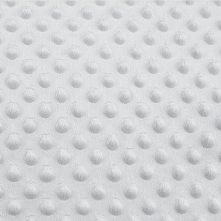 Metráž: Minky s 3D puntíky - sv. šedá