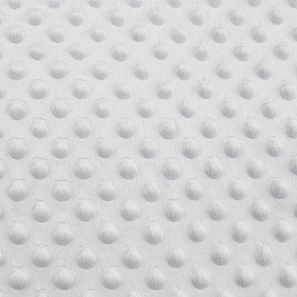 Minky s 3D puntíky - sv. šedá