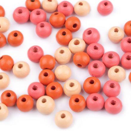 Galanterie: Dřevěné korálky 8 mm (60ks) - mix