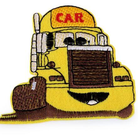 Galanterie: Nažehlovačka nákladní auto - žlutá