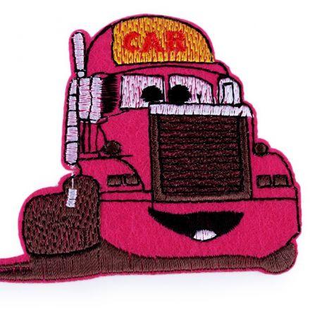 Galanterie: Nažehlovačka nákladní auto - růžová