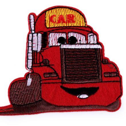 Galanterie: Nažehlovačka nákladní auto - červená