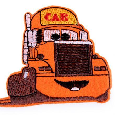 Galanterie: Nažehlovačka nákladní auto - oranžová