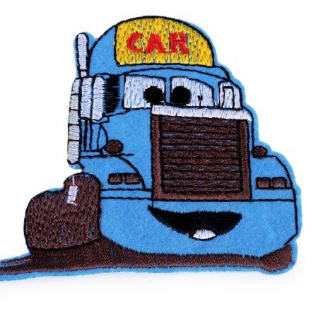Galanterie: Nažehlovačka nákladní auto - modrá