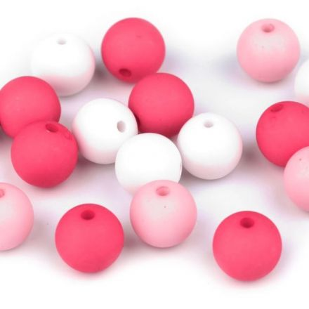 Galanterie: Plastové korálky 10 mm (20ks) - mix