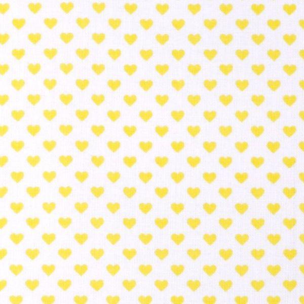 Bavlna srdíčka bílá - žlutá