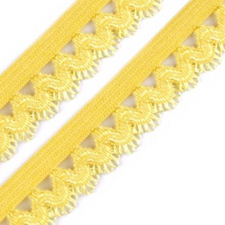 Galanterie: Ozdobná pruženka šíře 15 mm - žlutá