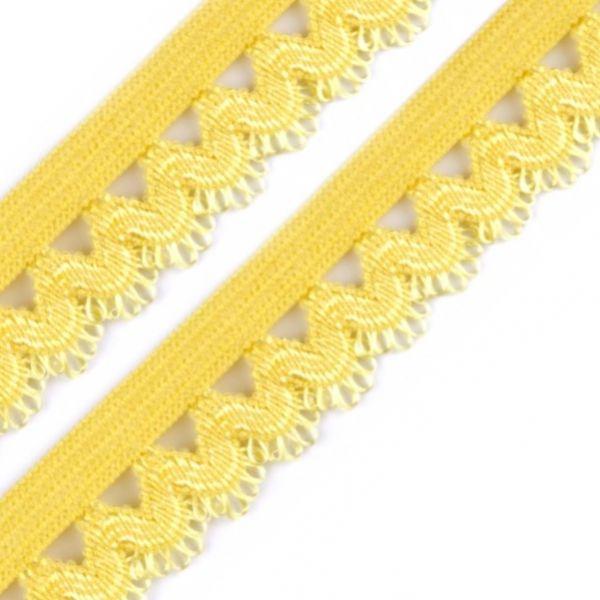 Ozdobná pruženka šíře 15 mm - žlutá
