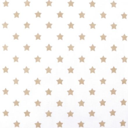 Metráž: Bavlněná látka hvězdy - béžová