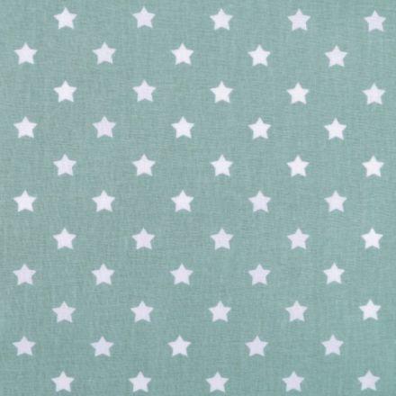 Metráž: Bavlněná látka hvězdy - mint