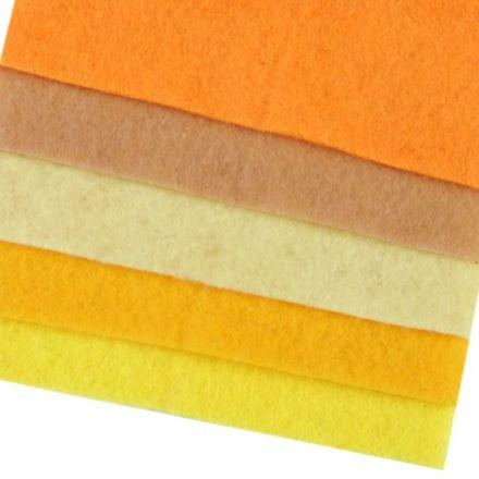 Galanterie: Sada dekorativních filců / plstí 10x45 cm  (5ks)