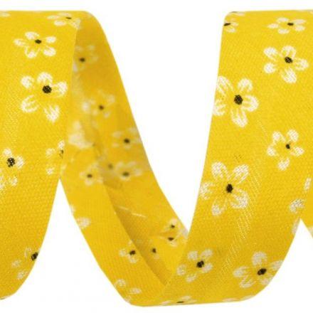 Galanterie: Šikmý proužek 14 mm - žlutý